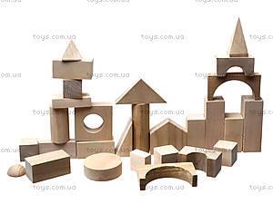 Деревянный конструктор для детей «Городок», 8050-01, магазин игрушек