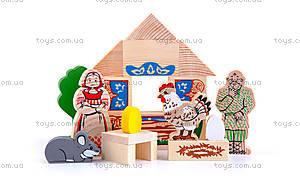 Деревянный конструктор «Курочка Ряба», 4534-1