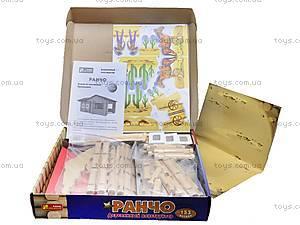 Деревянный конструктор «Ранчо», 6226, детские игрушки