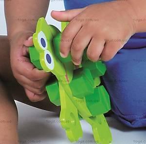 Деревянный конструктор «Веселые зверята», 2030, игрушки