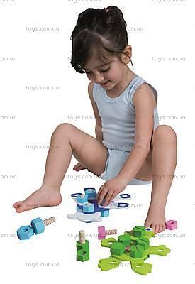 Деревянный конструктор «Веселые зверята», 2030, детские игрушки