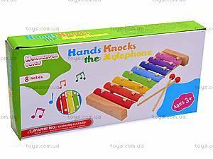 Деревянный ксилофон для детей, 2594-35, купить