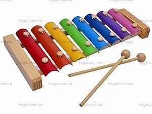 Деревянный ксилофон для детей, 2594-35