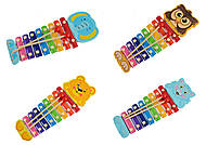 Деревянный музыкальный ксилофон, разные животные, C39417, купить