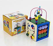 Деревянный кубик - лабиринт, 0474, фото