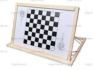 Деревянный настольный мольберт с шашками, МНС40332, цена