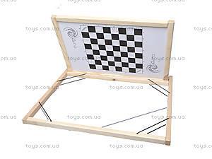Деревянный настольный мольберт с шашками, МНС40332, игрушки