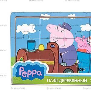 Деревянный пазл Peppa «Паровоз дедушки Пеппы», 25122, купить