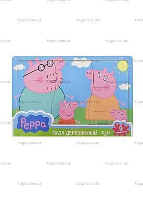 Деревянный пазл для малышей «Первый пазл Пеппы», 24456, купить