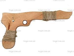 Деревянный пистолет из бука, 26 см, 171856у, купить