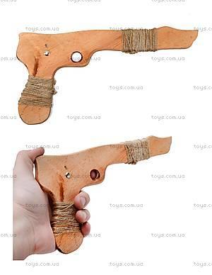 Деревянный пистолет из бука, 26 см, 171856у
