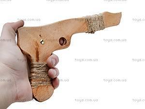 Деревянный пистолет из бука, 26 см, 171856у, фото