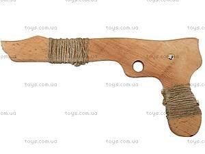 Деревянный пистолет из бука, 26 см, 171856у, отзывы