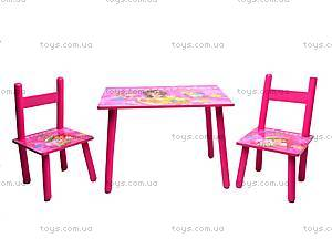 Деревянный столик со стульчиками «Клубничная девчонка», 2547-23