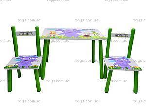 Деревянный столик со стульчиками «Лунтик», M1432
