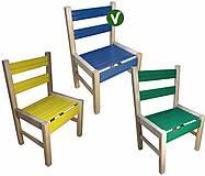 Деревянный стульчик синего цвета, 04-010BL
