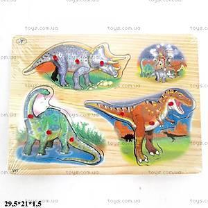 Деревянный вкладыш «Динозавры», BT-WT-0019