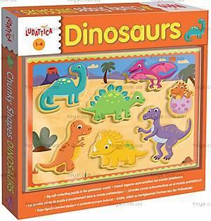 Деревянный игровой набор Ludattica Dinosaurs, 49912