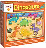 Деревянный игровой набор Ludattica Dinosaurs, 49912, фото