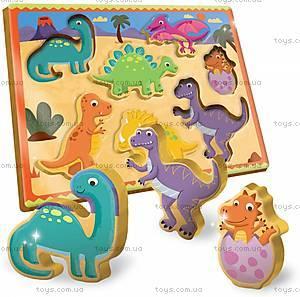 Деревянный игровой набор Ludattica Dinosaurs, 49912, купить
