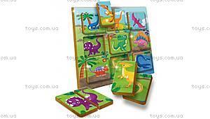 Деревянный игровой набор Ludattica Duo Dinosaurs, 49936, купить