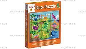 Деревянный игровой набор Ludattica Duo Dinosaurs, 49936