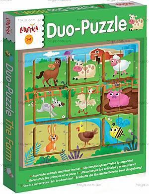 Деревянный игровой набор Ludattica Duo The Farm, 49943