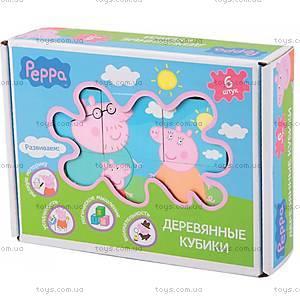 Деревянный игровой набор «Кубики Пеппы», 24441