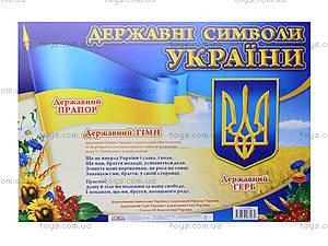 Плакат «Государственные символы Украины», 010213104029У