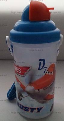 Детская бутылка для воды «Самолеты», 704152