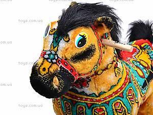 Детская деревянная качалка «Лошадь Барон» желтая, 40058-2, купить