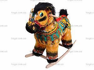 Детская деревянная качалка «Лошадь Барон» желтая, 40058-2
