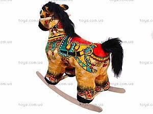 Детская деревянная качалка «Лошадь Барон» желтая, 40058-2, отзывы