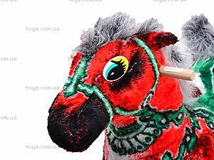 Детская деревянная качалка «Лошадь Буцефал» красная, 40055-1, отзывы