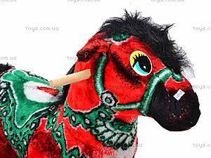 Детская деревянная качалка «Лошадь Ветерок» красная, 40056-1, фото