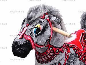 Детская деревянная качалка «Лошадь Ветерок» серая, 40056-3, купить