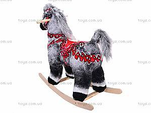 Детская деревянная качалка «Лошадь Ветерок» серая, 40056-3, фото