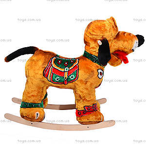 Детская деревянная качалка «Собака Плуто» коричневая, 40035-2, купить