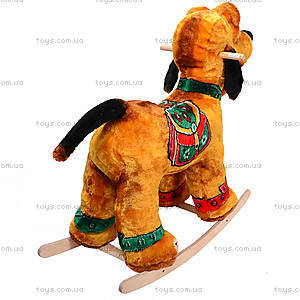 Детская деревянная качалка «Собака Плуто» коричневая, 40035-2, фото