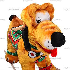 Детская деревянная качалка «Собака Плуто» коричневая, 40035-2, отзывы