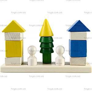 Деревянная пирамидка - конструктор «Городок», Ду-27