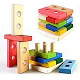 Деревянная пирамидка-конструктор «Логика», Ду-34, магазин игрушек