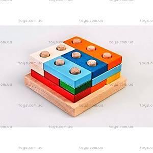 Деревянная пирамидка-конструктор «Логика», Ду-34, купить