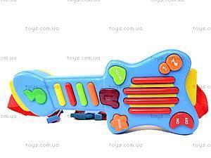 Детская гитара с наушниками, 7067, купить
