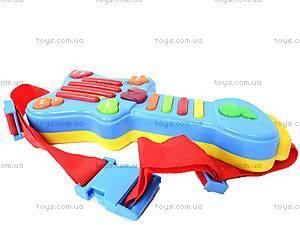 Детская гитара с наушниками, 7067, игрушки
