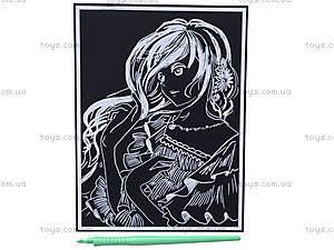Детская гравюра «Девушка с цветами в волосах», 7018-31, фото