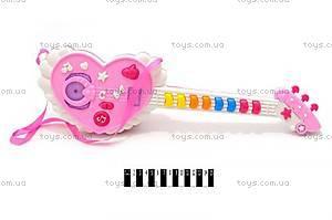 Детская гитара в виде сердечка, 664