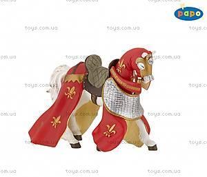 Детская игровая фигурка «Конь» с красной попоной, 39390
