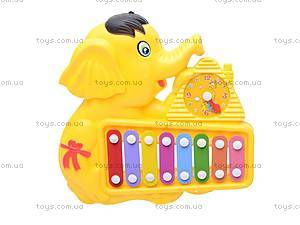 Детская игрушка «Ксилофон», с часами, 8989B1/C1, фото