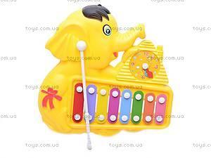 Детская игрушка «Ксилофон», с часами, 8989B1/C1